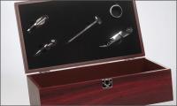 menu foto luxe wijnkist 2 vaks met 5 accessoires