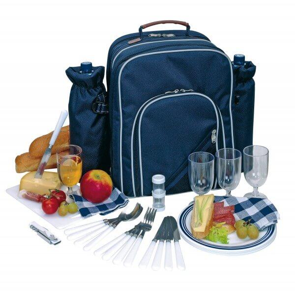 picknicktas 4 personen blauw